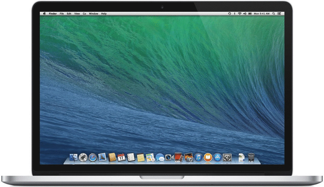 Apple MacBook Pro 15.4 (Retina Display) 2.4 GHz Intel Core i7 8 GB RAM 256 GB SSD [Early 2013, englisches Tastaturlayout, QWERTY]