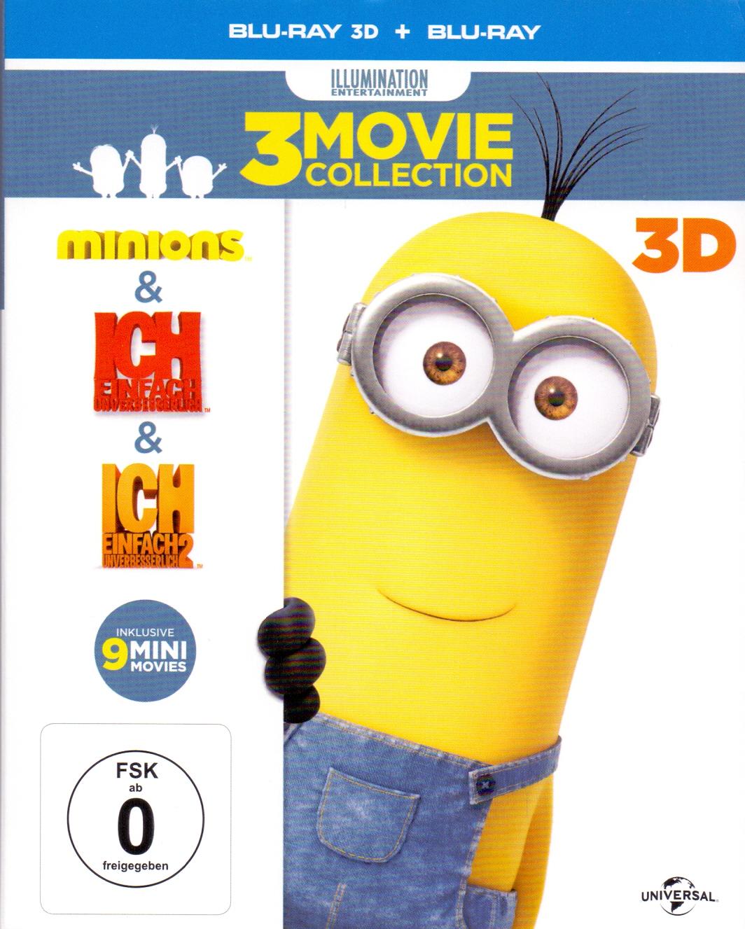 3 Movie Collection: Minions, Ich - Einfach Unverbesserlich, Ich - Einfach Unverbesserlich 2 [Blu-ray 3D + Blu-ray, 6 Dis