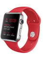 Apple Watch 42 mm silber am Sportarmband rot [Wi-Fi, (PRODUCT) RED Special Edition]