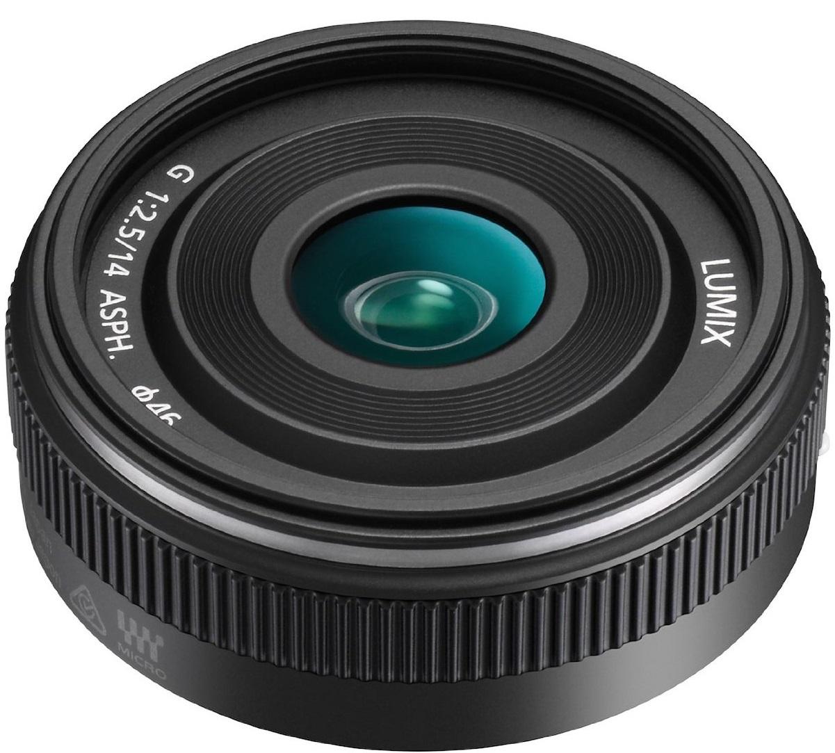 Panasonic Lumix G 14 mm 2.5 II Asph. 46 mm Filtergewinde (Panasonic Micro Fouor Third Anschluss)schwarz