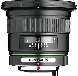 Pentax smc DA 14 mm 2.8 ED IF 77 mm Filtergewinde (Pentax K Anschluss) schwarz