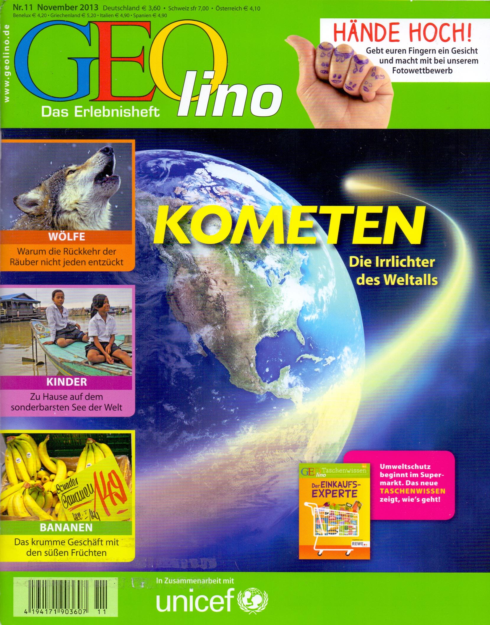 GEO lino 11/2013: Kometen - Die Irrlichter des Weltalls [Zeitschrift]