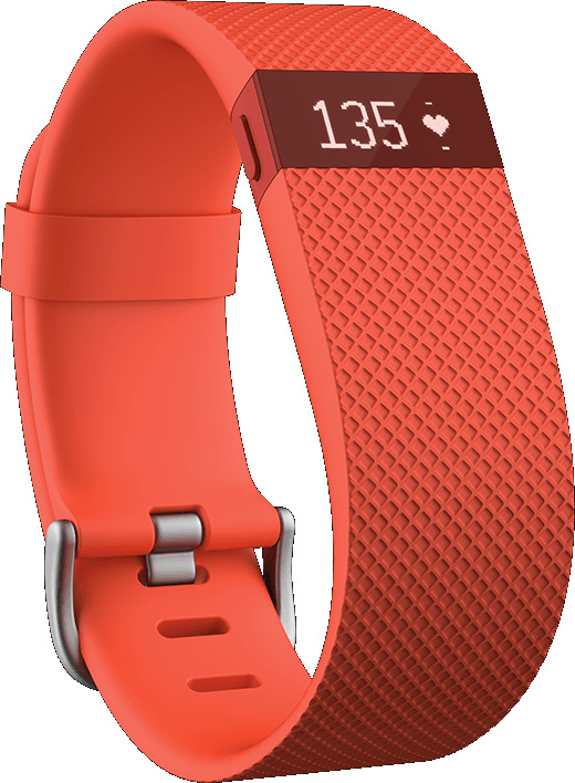 Fitbit Charge HR Large orangerot