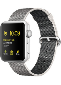 achat reconditionn apple watch series 2 42 mm bo tier aluminium argent et bracelet nylon. Black Bedroom Furniture Sets. Home Design Ideas