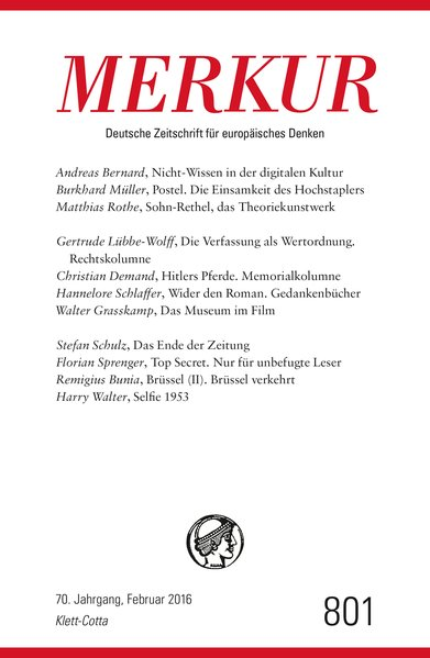 MERKUR Deutsche Zeitschrift für europäisches De...