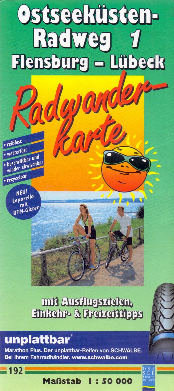 Leporello Radtourenkarte: Nr. 192 - Ostseeküste...