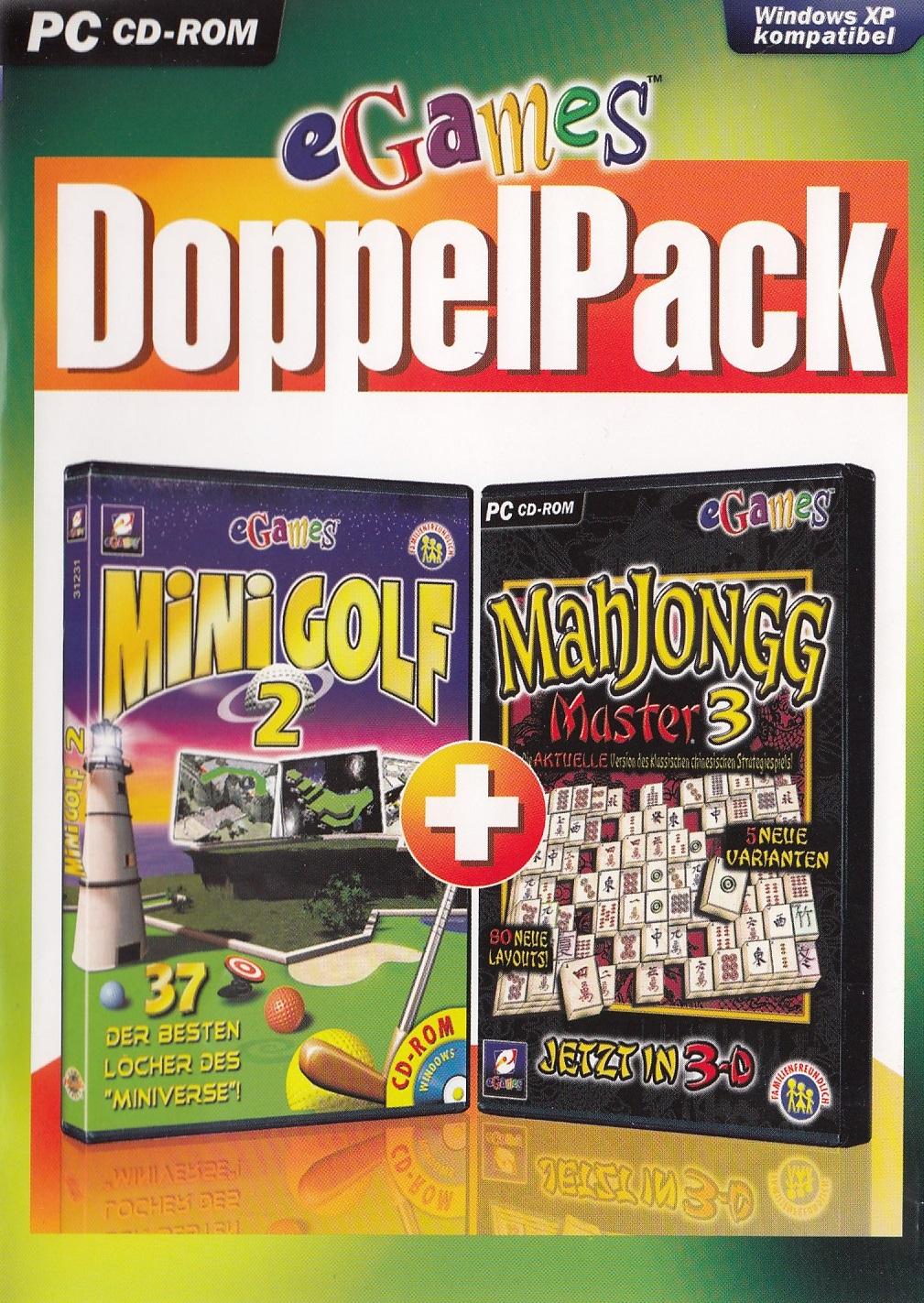eGames Doppel Pack: Minigolf 2 / Mahjongg Master 3