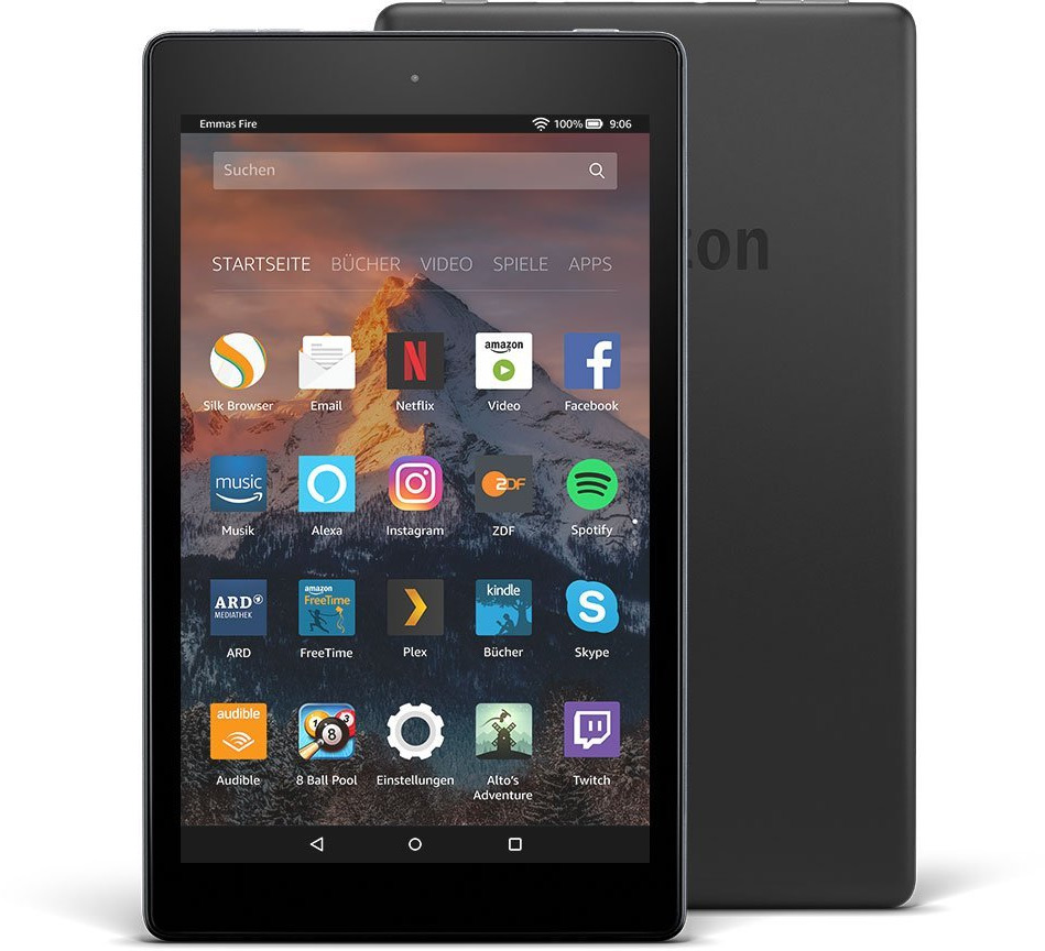 Amazon Fire HD 8 8 16GB [Wi-Fi, Modell 2017] schwarz