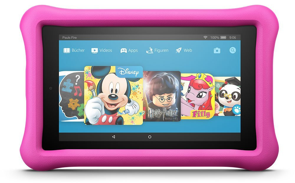 Amazon Fire 7 7 16GB [Wi-Fi, Kids Edition, Modell 2017] pink