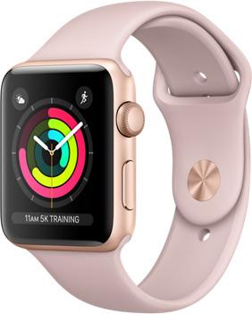 Apple Watch Series 3 42mm cassa in alluminio oro con cinturino Sport rosa sabbia [Wifi] (Ricondizionato)