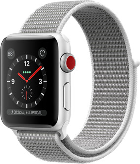Apple Watch Series 3 38 mm Aluminiumgehäuse silber am Sport Loop muschel [Wi-Fi + Cellular]