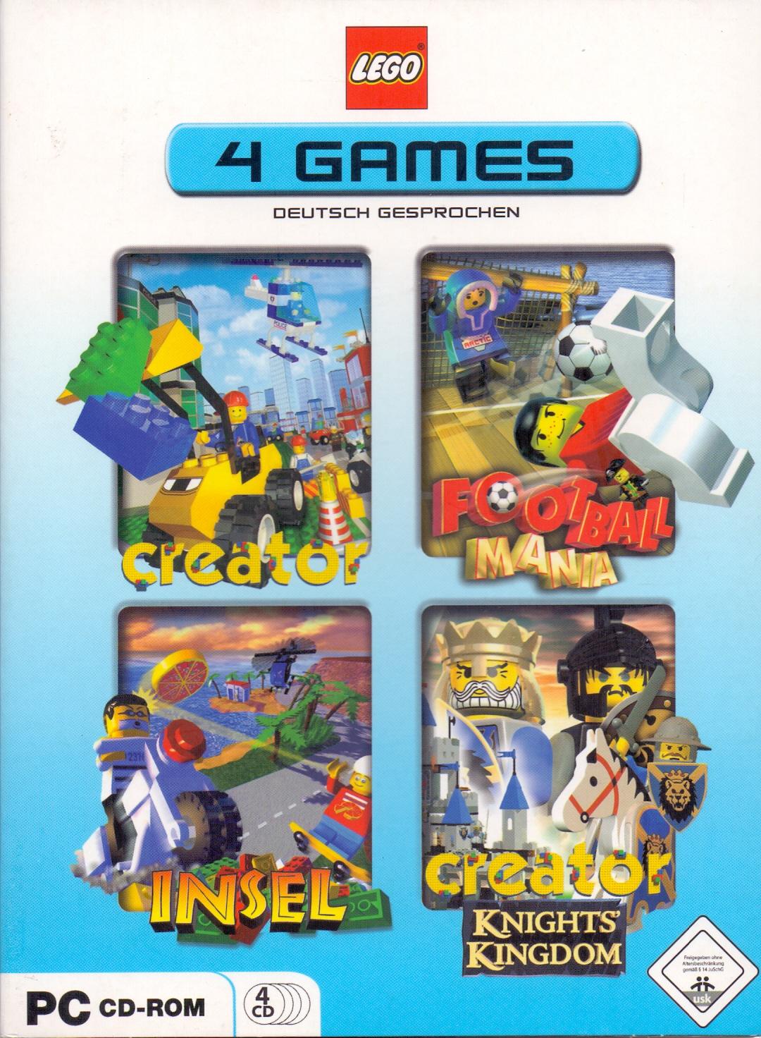 LEGO 4 PC GAMES : Creator / Football Mania / In...
