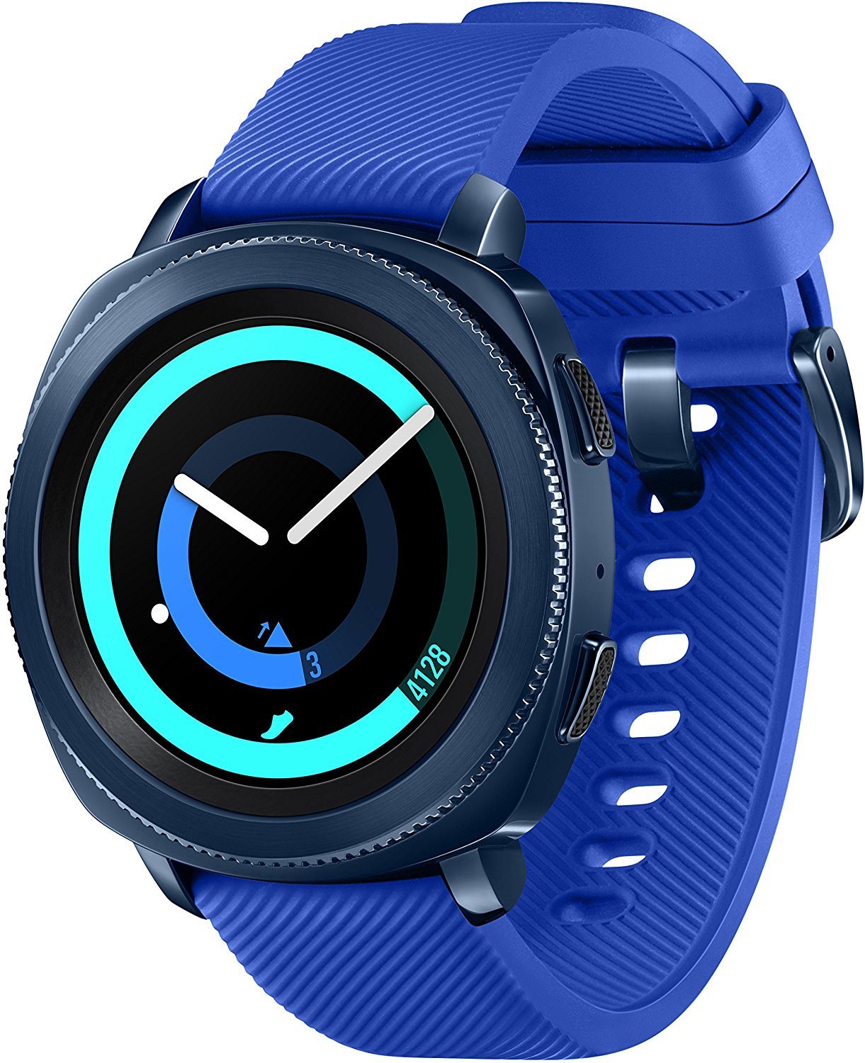 Samsung Gear Sport 30,2 mm blau am Silikonarmband blue