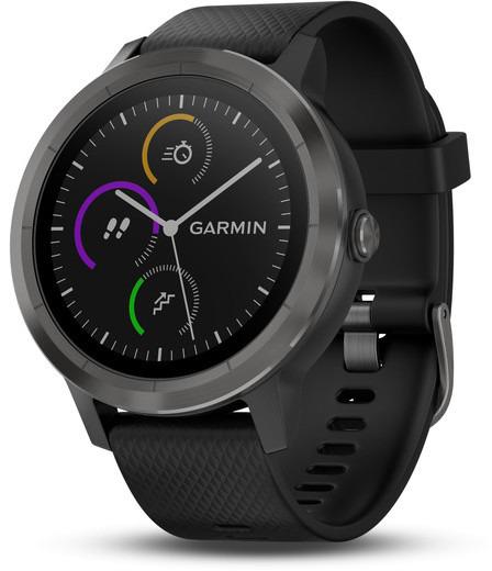 Garmin Vivoactive 3 30,4 mm schiefer am Silikonarmband schwarz