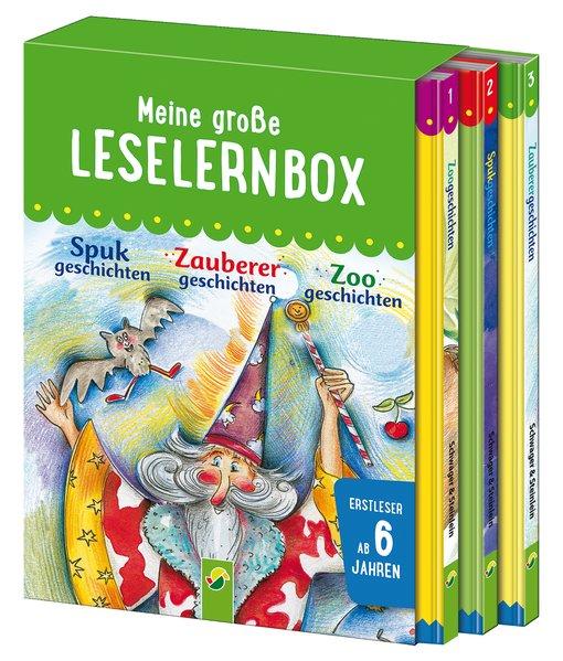 Meine große Leselernbox - Zoogeschichten, Zauberergeschichten, Spukgeschichten. Empfohlen ab 6 Jahren - Marion Clausen [Gebundene Ausgabe]