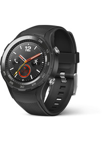 Huawei Watch 2 45 mm met zwarte sportband [wifi + eSIM] zwart