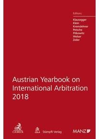 Austrian Yearbook on International Arbitration 2018 [Gebundene Ausgabe]