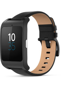 Sony Smartwatch 3 46mm noir et bracelet cuir noir [Wi-Fi]