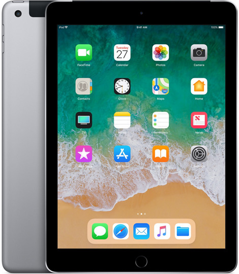 Apple iPad 9,7 128GB [Wi-Fi + Cellular, Modell 2018] space grau