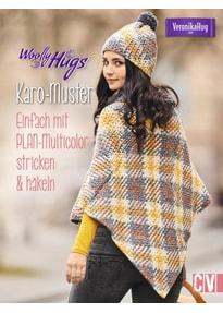 Woolly Hugs Karo-Muster. Einfach mit PLAN-Multicolor stricken & häkeln - Veronika Hug  [Taschenbuch]