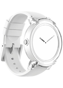 Mobvoi Ticwatch E 44 mm white am Silikonarmband ice [Wi-Fi]