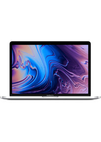 "Apple MacBook Pro met touch bar en touch ID 15.4"" (True Tone retina-display) 2.6 GHz Intel Core i7 16 GB RAM 512 GB SSD [Mid 2018, QWERTY-toetsenbord] zilver"