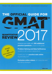 The Official Guide for GMAT Quantitative Review 2017: with Online Question Bank and Exclusive Video [Softcover]
