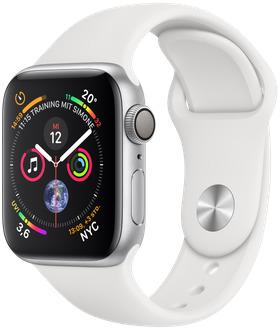 Apple Watch Serie 4 40 mm alluminio argento [Wi-Fi]  (Ricondizionato)