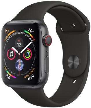 Apple Watch Serie 4 44 mm alluminio grigio nero [Wi-Fi + Cellular] (Ricondizionato)
