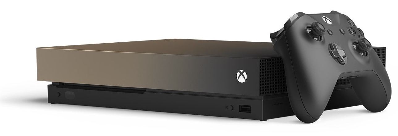 Microsoft Xbox One X 1TB [Battlefield V Gold Rush Special Edition inkl. Wireless Controller, ohne Spiel] gold rush