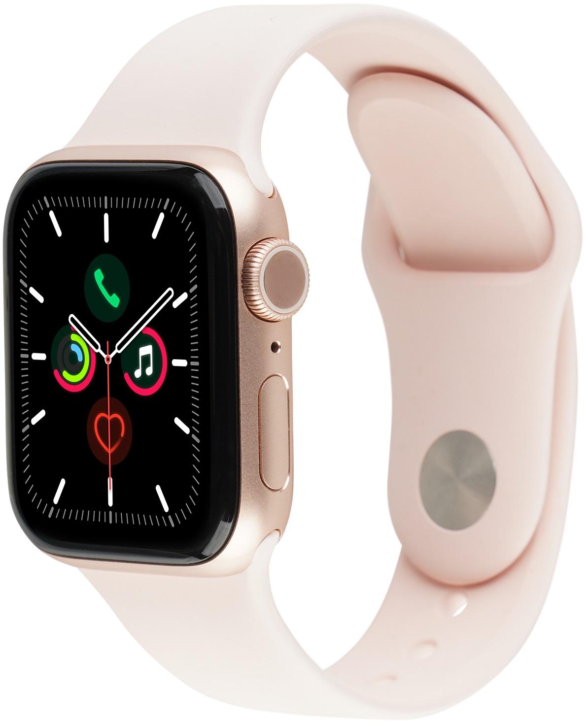Apple Watch Series 5 40 mm alluminio oro Cinturino Sport rosa sabbia [Wi-Fi] (Ricondizionato)